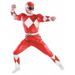 Fantasia Adulto Power Rangers Vermelho Luxo