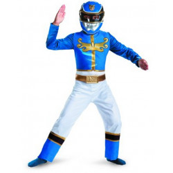 Fantasia Infantil Power Rangers Ranger Azul Megaforce