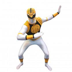 Fantasia Power Rangers Branco Luxo