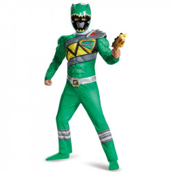 Fantasia Power Rangers Dino Charge Verde Luxo