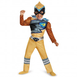 Fantasia Power Rangers Dino Charger Amarelo Infantil