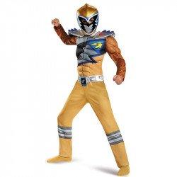 Fantasia Power Rangers Dino Charger Amarelo Luxo