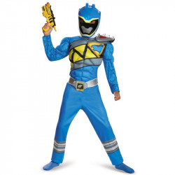 Fantasia Power Rangers Dino Charger Azul Luxo