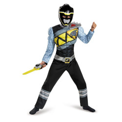 Fantasia Power Rangers Dino Charger Preto Luxo