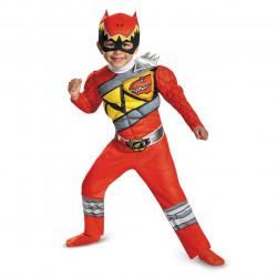 Fantasia Power Rangers Dino Charger Vermelho Infantil