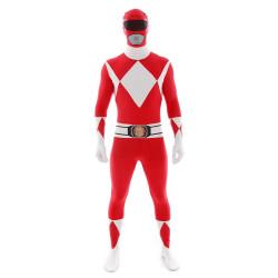 Fantasia Power Rangers Vermelho Luxo