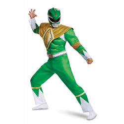 Fantasia Adulto Power Ranger Verde Luxo Novo
