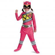 Fantasia Power Rangers Dino Charger Rosa Infantil