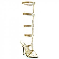 Sandália Adulto feminina Dourada Grega