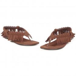 Sapato Sandália com Franjas de India