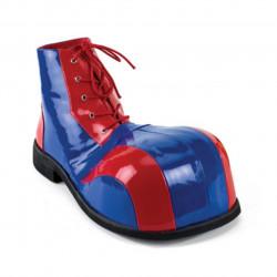 Sapato de Palhaço Azul e Vermelho