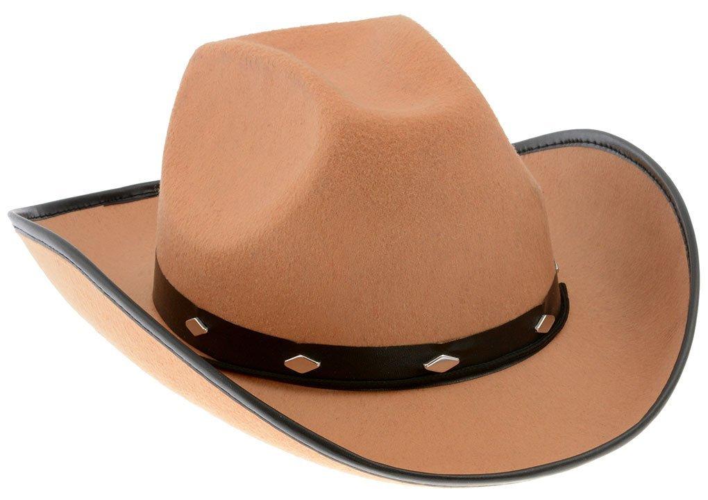 Chapéu de Cowboy Peão de Boiadeiro Marrom Claro 5281494c18e
