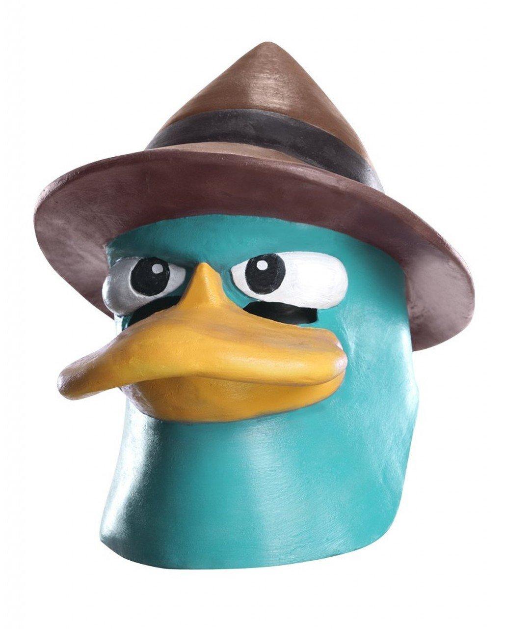 Máscara Vinil Agente Perry De Phineas E Ferb Luxo