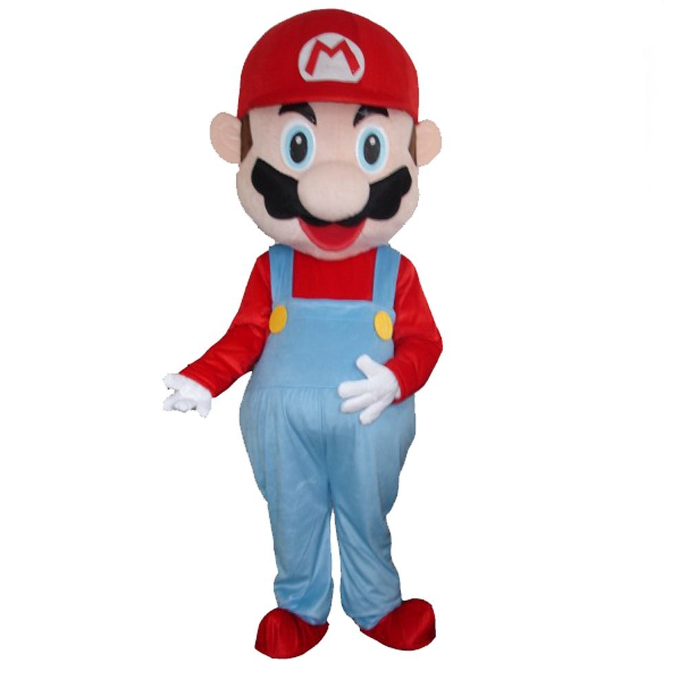Fantasia Mario Bros Mascote Adulto Luxo bccad7ff19e