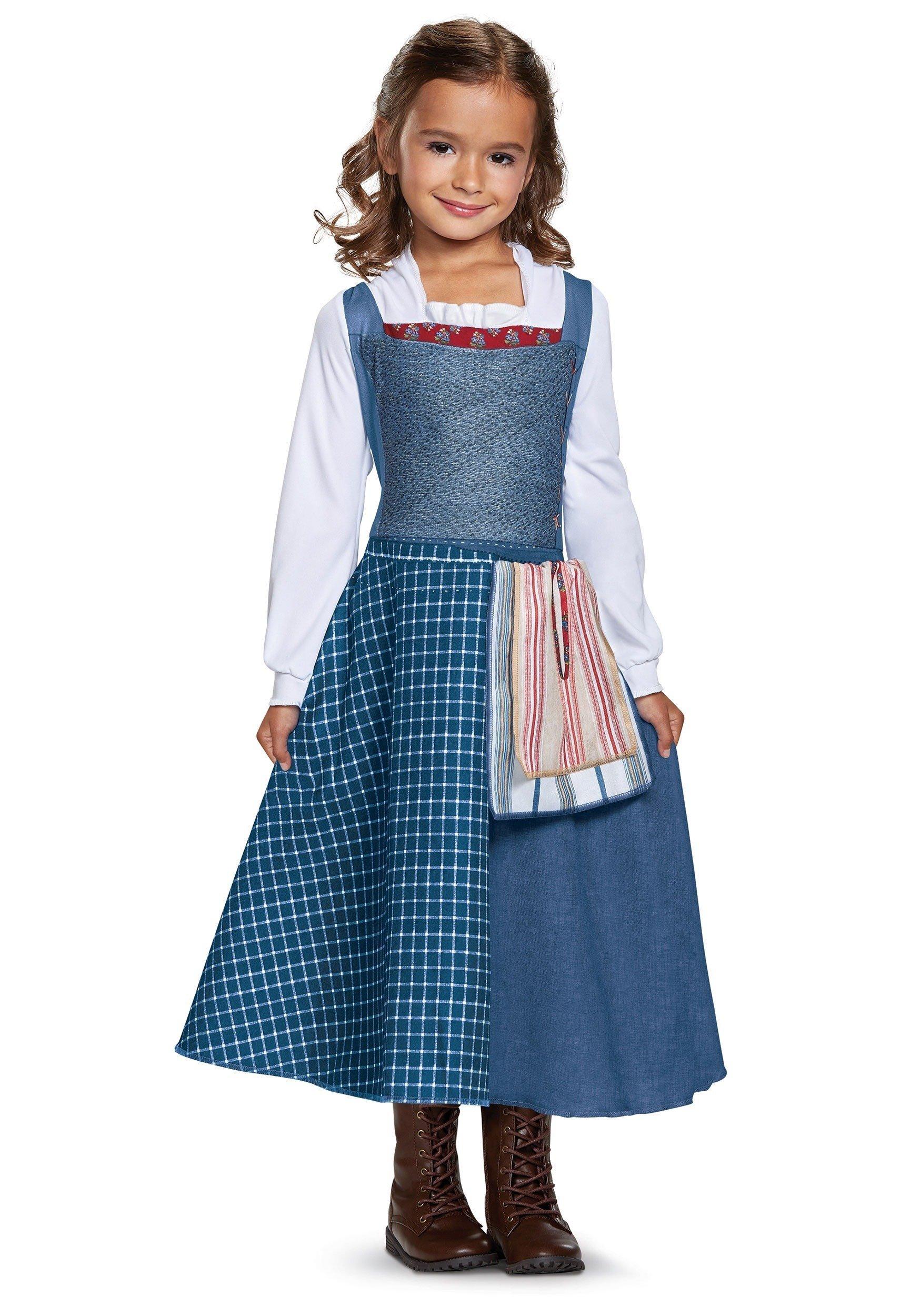 Vestido bela azul infantil